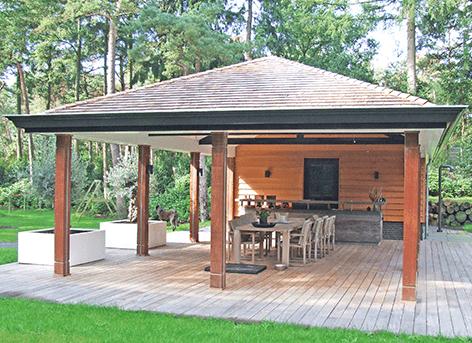 3dcase architectenburo overdekte buitenkeuken bosch en duin